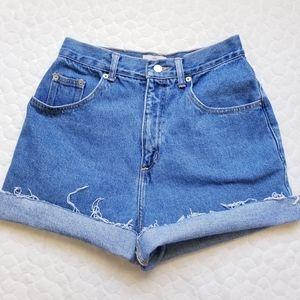 Vintage mom jean shorts distressed denim wedgie 6